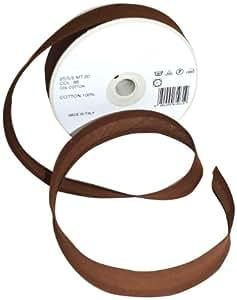 Inastri 25/5/5 mm Cotton Bias Binding, Light Brown