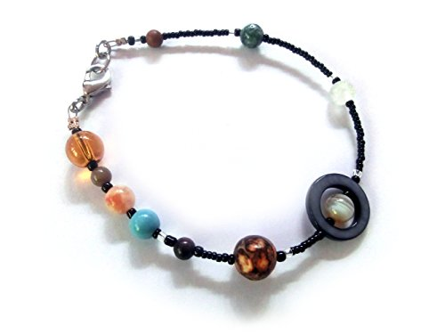 Chain of Being MiniVerse 2004, Solar System Bracelet with Pluto! (7.5in Small), Gemstone Planets, 24.50 (The Size Of Mercury Compared To Earth)