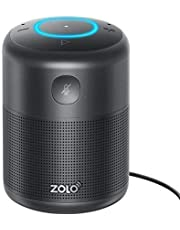 ZOLO Halo Smart Speaker with Amazon Alexa and Powerful Sound, Voice Control, and Stream Amazon Music Unlimited, Spotify, TuneIn, iHeartRadio, and Audiobooks, Bluetooth and Wi-Fi