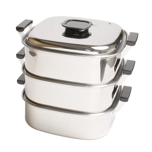 3 TIER STAINLESS STEAMER by tabletop king