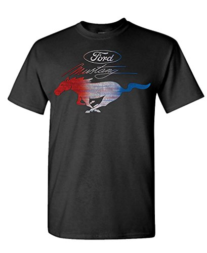 - RWB Mustang Ford Mustang Officially Licensed - Mens Cotton T-Shirt, XL, (Mustang Black Shirt)