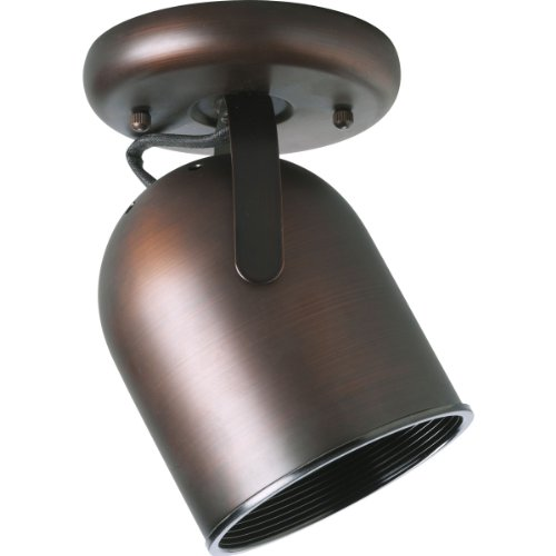 Progress Lighting P6144-174 1-Light Round Back Ceiling Mount Directional, Urban Bronze (Cylinder Par30 Back Round)