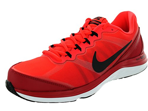 Nike Men's Dual Fusion Run 3 Premium Gym Red/Blk/Brght Cr...