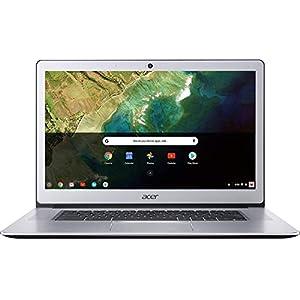 Acer Chromebook 15, Intel Celeron N3350, 15.6″ Full HD Touch, 4GB LPDDR4, 32GB Storage, Google Chrome, Pure Silver, CB515-1HT-C2AE, 15-15.99 inches
