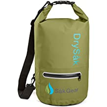 Såk Gear Premium Waterproof Dry Bag with Exterior Zip Pocket Shoulder Strap and Reflective Trim