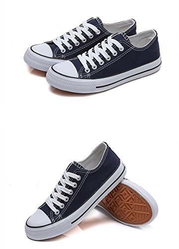 Black Unisex up Canvas Classic Sneakers Casual Shoes Lace vB8Wvg