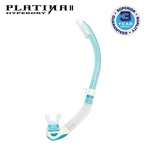 TUSA SP-170 Platina Hyperdry II Scuba Diving Snorkel, Light Blue