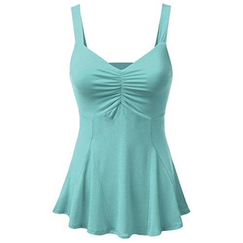 Sexy Boho T Top Dbardeurs Gilet Casual Clair Manches Camisole Crop Femmes Blouse Debardeur Bleu sans Femme Sexy Shirts Fathoit qfZEYE