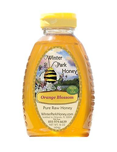 Raw Orange Blossom Honey 16oz (Pure Natural Honey)