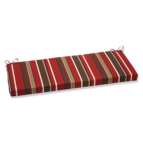 Pillow Perfect Monserrat Bench Cushion, Red (45 Bench Outdoor 16 X Cushion)