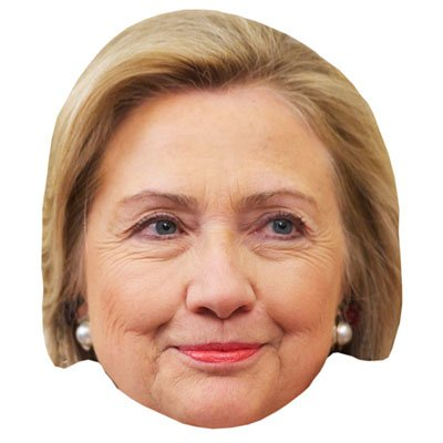 Hilary Clinton Celebrity Mask, Cardboard Face and Fancy Dress Mask (Fancy Face Masks)
