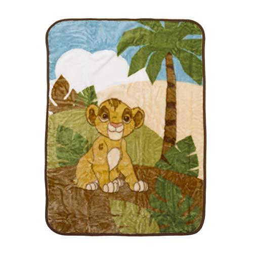 Jungle Sage (Disney Lion King Urban Jungle Luxury Plush Throw Blanket, Tan/Brown/Green/Ivory)