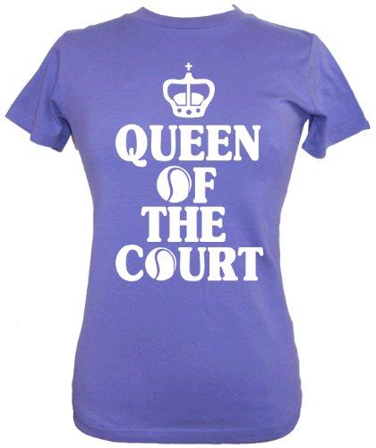 Para mujer sábana bajera para cama de mujer y niña para tenis T-camiseta de manga corta de 'Queen OF THE de pista de' morado