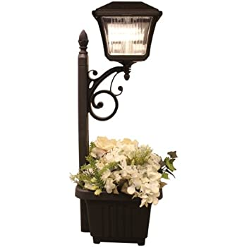 Gama Sonic Plantern Solar Outdoor LED Path And Garden Light With Planter  #GS 111PL