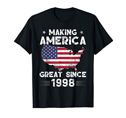 Vintage 21st Birthday Gift Making America Great Since 1998 (Birthday Gift Ideas For 21 Year Old Male)