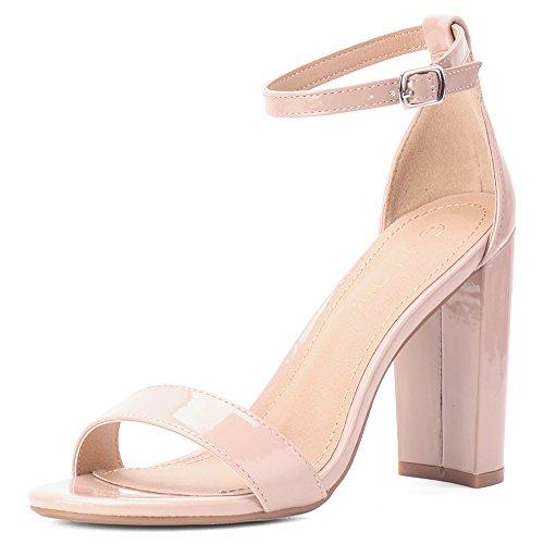 Image of Moda Chics Women's High Chunky Block Heel Pump Dress Sandals