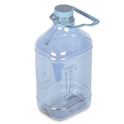1/2 Gallon (64 oz.) Polycarbonate Plastic Water Bottle w/ Handle - 48mm Cap Natural Blue (Blue Polycarbonate Water Bottle)
