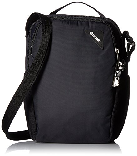 (Pacsafe Vibe 200 Anti-Theft Compact Travel Shoulder Bag, Black)