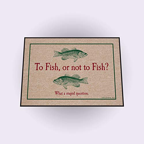 HIGH COTTON To Fish or Not to Fish Indoor/Outdoor - Cotton High Door Mat