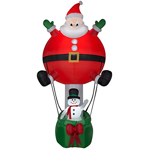 Santa Inflatable Hot Air Balloon - Christmas Fun Airblown - 12ft tall by Holiday Airblast (Image #1)