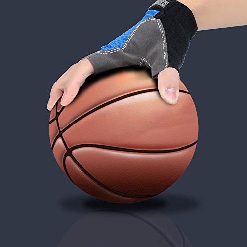 Vbestlife Basketball Training Gloves,1 Pair Basketball Dribble Handling Gloves Basketball Ball Controlling Hand Shooting Skills Training Aid Exercise Gloves by Vbestlife
