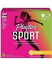 Playtex Sport Tampons, Super Plus Absorbency, Pack of 36 Tampons