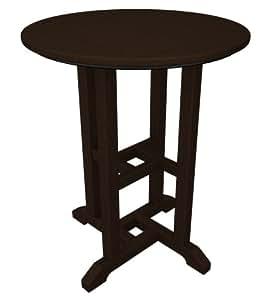 "POLYWOOD RT124MA Traditional 24\"" Round Dining Table, Mahogany"