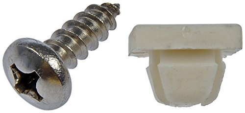 Dorman 785-166 License Plate Fasteners - 14 x 3/4 In., Pack of 4 ()