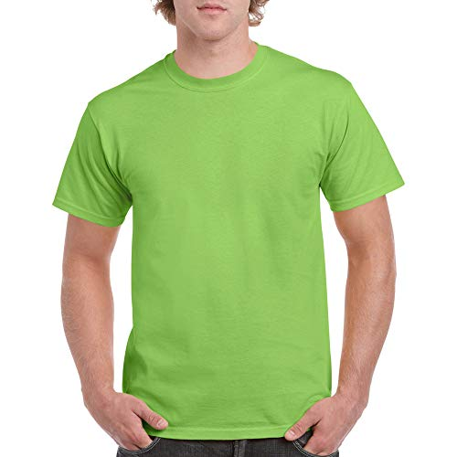 Gildan Men's Heavy Cotton Adult T-Shirt, 2-Pack, Lime, Medium