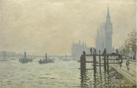 Oil Painting 'Claude-Oscar Monet - The Thames Below Westminster,about 1871' Printing On High Quality Polyster Canvas , 8x12 Inch / 20x32 Cm ,the Best Basement Gallery Art And Home Decor And Gifts Is This Amazing Art Decorative Prints On Canvas - Costumes Rental Seattle