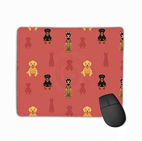 (Mouse Pad Dog Wallpaper German Shepherd Golden Retriever Rottweiler Animal eps File Format Rectangle Rubber Mousepad 11.81 X 9.84 Inch)