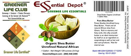 Shea Butter - Organic Grade A - Premium Unrefined - 1 Gallon (8 pounds) by Essential Depot (Image #1)