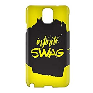 Loud Universe Samsung Galaxy Note 3 3D Wrap Around Infinite Swag Print Cover - Yellow/Black
