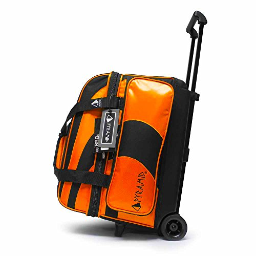 (Pyramid Path Deluxe Double Roller Bowling Bag (Black/Orange))