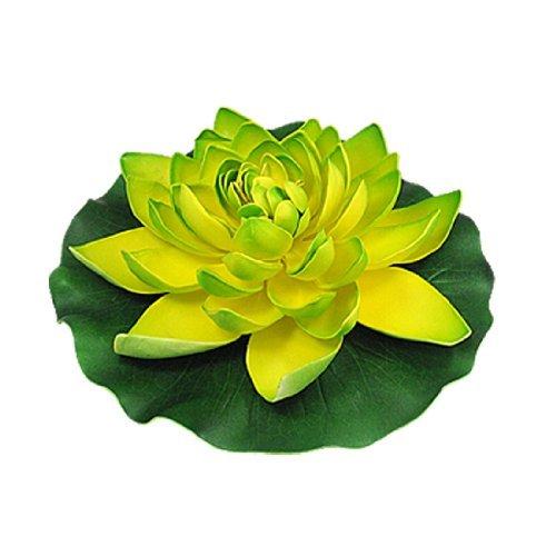 eDealMax Jardin Mousse étang eau flottant Lotus, vert/Jaune