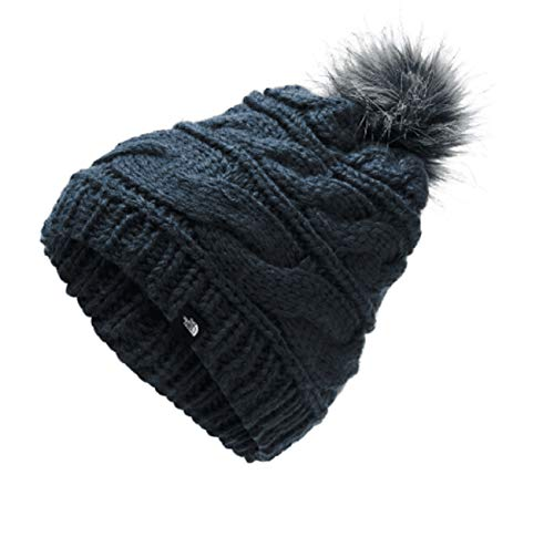 The North Face Triple Cable Fur Pom, Urban Navy, OS