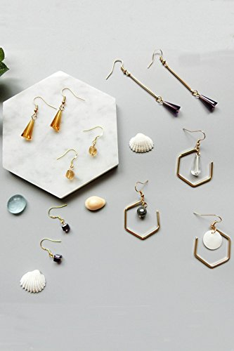 Generic ( high-end_ jewelry _box)_to Korean_style_of length_of Glass_crystal_temperament_polygon_ earrings Earring eardrop _(Buy_Two_Get_One_Free)