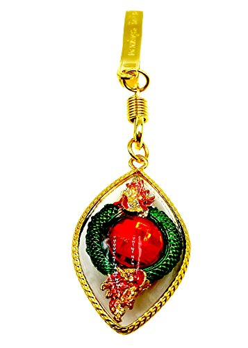 Powerful red naga eye gem stone for luck success & rich pendant with golden hanger and - Golden Jasper Horse