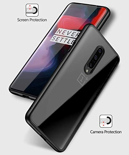 OnePlus 7 Pro Case, Premium Hybrid Protective Case Cover with Air Cushion Technology for OnePlus 7 Pro (Black, OnePlus 7Pro)