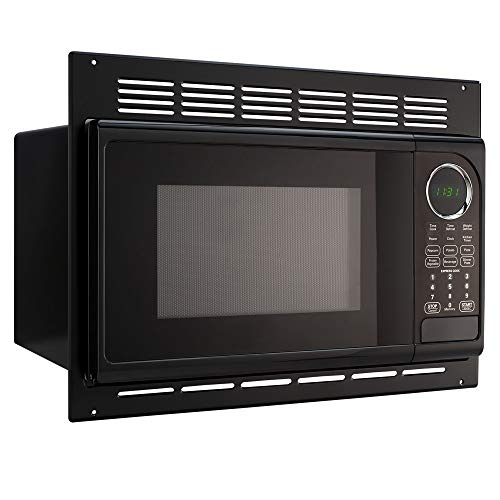 RecPro RV Microwave | .9 Cubic Ft Black Microwave with Trim Kit | 900 Watt (RPM-1-BLK) (Best Countertop Microwave With Trim Kit)