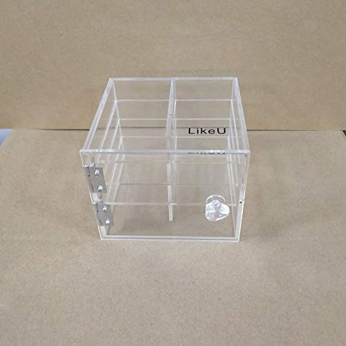 LikeU Makeup Organizer,Acrylic Cosmetic Storage and Organizer,Fits Lipstick,Nail Polish,Brushes,Jewelry and More,Pack of 1