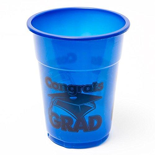Congrats Grad Blue 16 oz. Plastic Cups