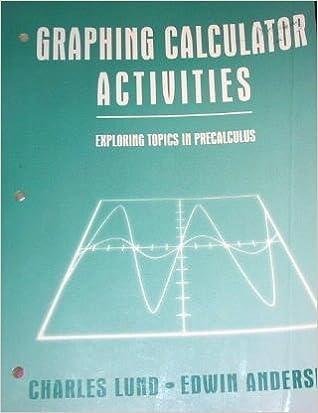 Graphing Calculator Activities: Exploring Topics in Precalculus ...