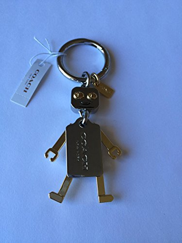 COACH Robot Gold & Silver Tone Movable Limb CHARMS KEY FOB 65429