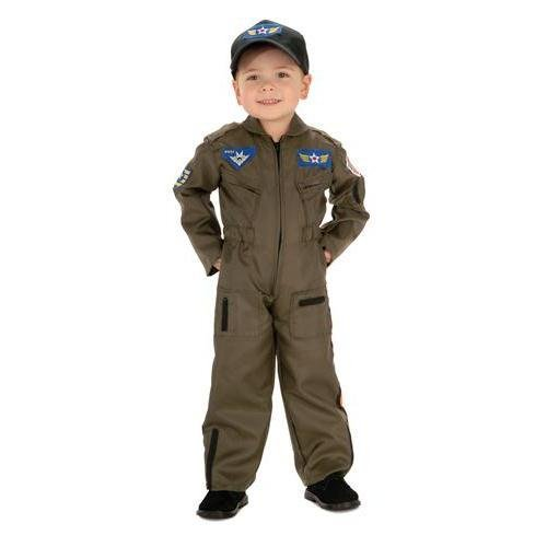 Rubie's Costume Co Kid Air Force Fighter Pilot Top Gun Halloween Costume M Boys Green Medium (5-7 -