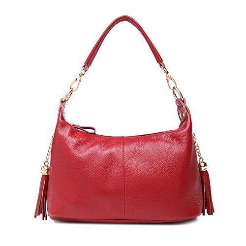 GWQGZ La Moda Casual Lady Handbag Negro Gules
