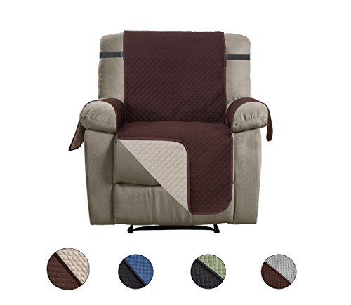 CALA Recliner Slipcovers, Reversible Couch Slipcover Furniture Protector,Cover Perfect for Pets and Kids,Machine (Economical Baby Guide)