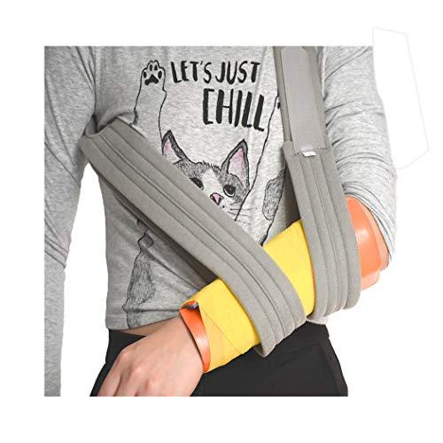 Child Arm Sling Shoulder Immobilizer- Adjustable Padded Should & Arm Support Strap for Rotator Cuff Surgery, Broken Arm, Fractured Bones