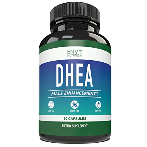DHEA 50mg Male Enhancement Capsules - Best Supplement for Youthful Energy, Healthy Aging, Bone Mineral Density and Mood Support - 60 Capsules from Envy Nutrition