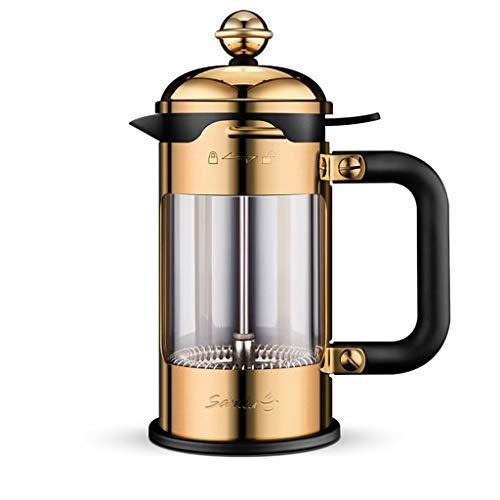 Acquisto WYJW Caffettiera Manuale Francese Caffettiera casa 304 pentola a Pressione in Acciaio Inox Vetro Filtro Tazza di tè (Colore: Oro, Dimensioni: 1000ml) Prezzi offerta